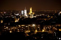 Stad-Gent bij avond.