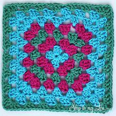 Granny Square dish cloth DIY #crochet #skiptomylou