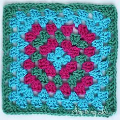 granny square dishcloth  http://www.skiptomylou.org/2012/12/18/how-to-crochet-a-granny-square-dishcloth/?utm_source=feedburner_medium=email_campaign=Feed%3A+skiptomyloublog+%28Skip+To+My+Lou%29_content=Yahoo!+Mail#