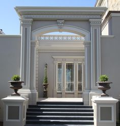 Prestige Wall Systems - Architectural & Lightweight Building Products | GALLERY MOULDINGS DETAIL Classic House Exterior, Classic House Design, Dream House Exterior, Geometry Architecture, Classical Architecture, Architecture Design, House Outside Design, House Front Design, Loft Interior Design