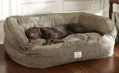 Orvis Lounger Deep Dish Dog Bed Large Dogs 60 120 Lbs Washable Dog Beds For Large Dogs Washable Dog Beds For Large Dogs