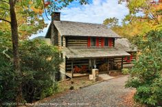 North carolina mountain log cabin home- AMAZING VIEWS http://www.ashecountyrealestate.com/properties/rustic-stonebridge-log-home-40744.html