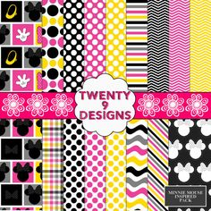 INSTANT DOWNLOAD Minnie Mouse Inspired Pack by Twenty9Designs, $4.00