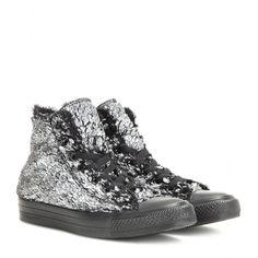 0f3eca23f819 106 Converse - Chuck Taylor All Star metallic faux fur high-top sneakers -  Converse