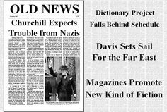 Old Newspaper Layout