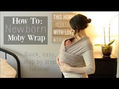 How To: Moby Wrap with a Newborn ♡ Newborn Hug Hold - NaturallyThriftyMom…