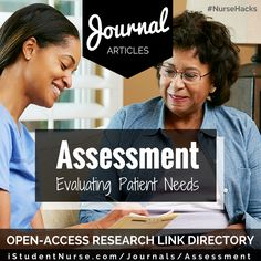 Assessment Nursing  Research/Evidence-Based Practice (EBP) Journal Articles Collection at iStudentNurse. Links to peer-reviewed, open-access articles on theories, research models/studies, & related topics. #NurseHacks Nursing School Tips, Nursing Care, Nursing Tips, Nursing Journal, Healthcare Jobs, Nursing Assessment, New Nurse, Nursing Research, Critical Care
