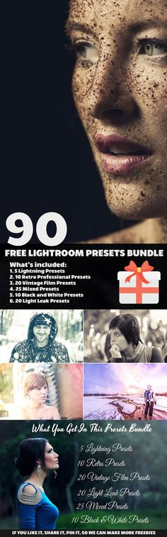 Free 90 Lightroom Presets Bundle by symufa