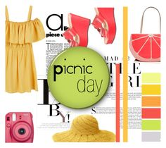 """Picnic Day"" by flytotheworld ❤ liked on Polyvore featuring MANGO, Kershaw, Mar y Sol, Seed Design, Kate Spade, Robert Clergerie, November and Fujifilm"
