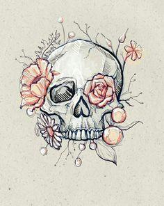 Art Drawings Sketches Simple, Pencil Art Drawings, Cool Drawings, Drawings Of Skulls, Skeleton Drawings, Cool Sketches, Creative Sketches, Skull Art, Art Sketchbook