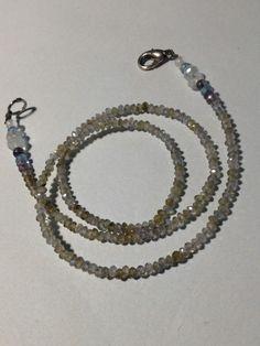kurisutaru, apatite, moonstone, iolite, sapphire, labradorite, necklace.