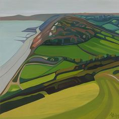 Anna Dillon - Contemporary Artist - Landscapes - The Isles of Colour - Branscombe Walk