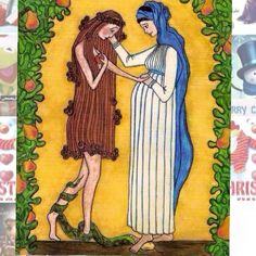 restoring life, Eva meets Virgin Mary. This brings a tear to my eye every time I see it. The hope of this broken world!