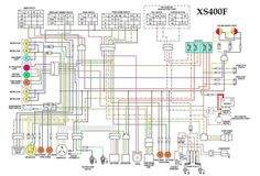 XS650 simplified and plete    wiring       diagram      Electrical   Electronics Concepts   Pinterest
