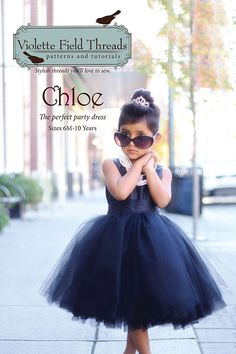 With  Shades' of Tiffany's, Absolutely Adorable! The 'Chloe Dress Pattern & Design,' From Violette Field Threads Sewing.