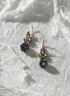 Gold filigree jewelry with black gemstones - D&G Jewellery   Jewellery Dolce&Gabbana