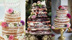 naked wedding cake - Google Search