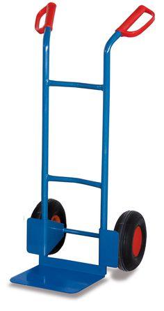 GTARDO.DE:  Stahlrohrkarre, Tragkraft 200 kg, Maße 562 x 531 x 1100 mm, Schaufel 320 x 250 mm, Rad 260 x 85 mm, Höhe 1100 mm 74,00 €