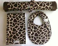 Giraffe print baby set