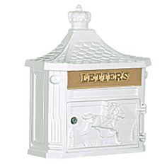 Shop for Victorian Wall-mounted White Mailbox. Get free delivery On EVERYTHING* Overstock - Your Online Home Improvement Shop! Wall Mount Mailbox, Mounted Mailbox, Victorian Mailboxes, Patio Wall, Yard Care, Victorian Design, Beige Walls, Perfect Pillow
