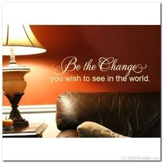 BE THE CHANGE  Vinyl Wall Lettering Words by itwaddle on Etsy