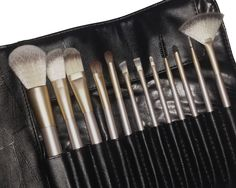 Premium Quality Makeup Brushes, Full Size Set of 12 With The Softest Bristles, Includes a Free Travel Case