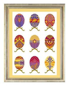 Cross stitch pattern EGG SAMPLER faberge,easter,cross stitch,needlepoint,embroidery pattern,scandinavian,home decor,wall art,diy,multicolour by anetteeriksson on Etsy