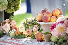 peach centerpiece