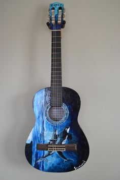 Hand painted Acoustic Guitar by Szymczykguitars on Etsy, $450.00