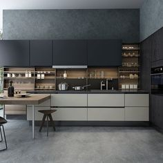 Contemporary Kitchen 21595 Model available on CGmodelX, High quality Produced by Design Connected. Hotel Interiors, Office Interiors, Living Room 3ds Max, Kitchen 3d Model, 3d Max Vray, 3ds Max Models, Table Shelves, Space Architecture, Kitchen Sets