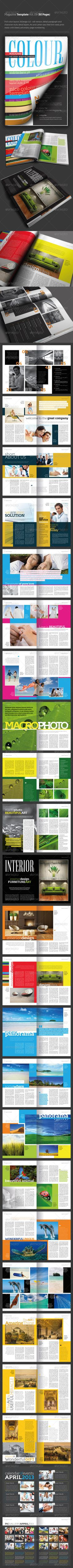 InDesign Magazine Template Vol. 09 (50 pages) - GraphicRiver Item for Sale