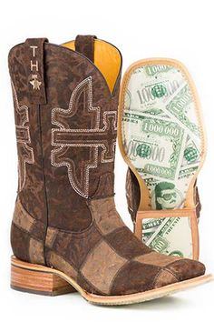 Tin Haul Million Dollar Check Men's Cowboy Boots - HeadWest Outfitters