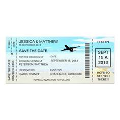 Tropical Wedding Invitation Revised Boarding Pass Save The Date Invitation