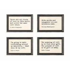 FREE SHIPPING! Shop Wayfair for Creative Co-Op Sayings 4 Piece Framed Wall Art - Great Deals on all Decor products with the best selection to choose from!