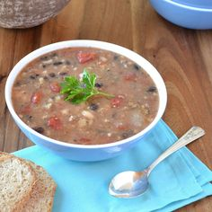 Most requested 30 minute Italian bean soup with sausage- hearty and healthy!