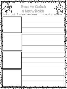 How to catch a snowflake writing template freebie winter in the how to catch a snowflake maxwellsz