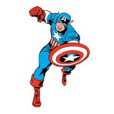 Captain America Classic Giant Wall Decal