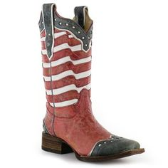 Corral Women's USA Square Toe Western Boots