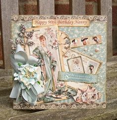#cardmaking #papermood (via Just For One Day: Graphic 45 Papers - 'A Ladies Diary') This is a total stunner by Paula Whittaker, always admire her cards as you can't help but pause and admire the beauty of the composition. Have a look at Paula's blog, you'll be going ohhhh and aahhhhh!