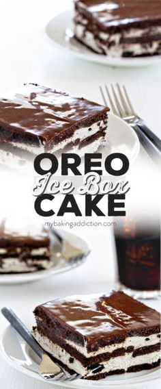 Oreo Ice Box Cake comes together in minutes and is always a crowd favorite! Perfect for parties and potlucks!
