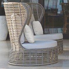 The Drone outdoor wicker sofa is perfect for the patio or outdoor room. Garden Sofa, Garden Furniture, Outdoor Furniture, Furniture Design, Outdoor Rooms, Outdoor Living, Outdoor Sofa, Skyline Design, Wicker Sofa