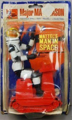 Major Matt Mason 1968 MOC Matt Astronaut Black Straps Large Backing Card