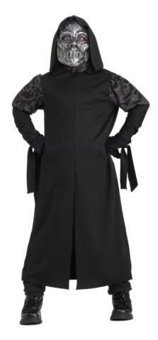 Includes: Child Death Eater Costume with the long hooded robe and mask.