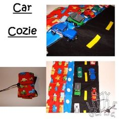 car cozy roll up caddy for toy cars- my son would love this!