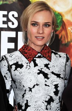 diane kruger Les Adieux A La Reine derek lam collar dress black white red asianfloral embroidery print mix