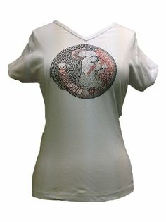 NCAA Florida State Seminoles Women's V Neck Cap Sleeve Knit Pullover T-Shirt