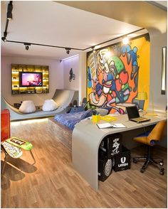 skate board bunk beds for teens | SKATEBOARDING BEDROOMS FOR TEENAGERS - SKATE AND GRAFFITI ENTHUSIASTS