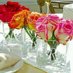centros de mesa con rosas - Buscar con Google