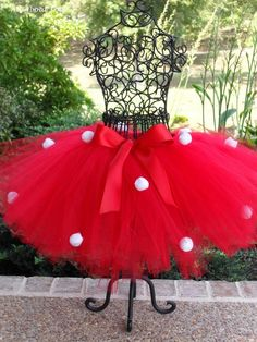 Cute Mini Mouse Tutu Red with White Balls in by FrillsandFireflies, $40.00
