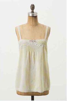 Anthropologie Inex Camisole Cami Size M, Fleurette, Cotton